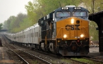 CSX 944 and 588 bring the Ringling brothers train into Springfield