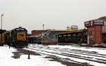 CSX 6219 lead local B740 through Springfield Station