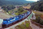 Conrail empty coal at Corning ny
