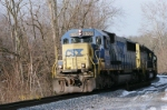 CSX 8709 coming to railroad crossing