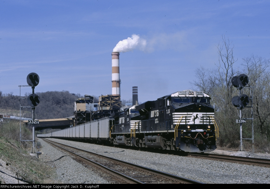 NS 7535 & 9784 are south boundat mp 33 on the Mon Line