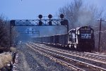 NS 3373 gives a hardy shove on the rear of a ore train up Carney Hill,
