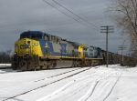 CSX 44 & 433 sit on the Service Track with N905-31