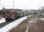 Just past Breton Ave, CP 9636 leads X500-22 east