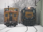 Y221's conductor spots the reefers at Michigan Natural Storage