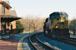 CSX 4573 coming to Point of Rock Station