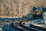 CSX peek around corner around Point of rock