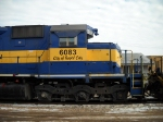 DME 6083 City of Rapid City is middle unit of three idling at depot