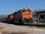 BNSF 5857 Leads empty coal train