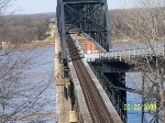 KCS bridge across Mississippi River at Vicksburg, MS