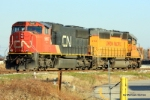 CN 5697 & UP 2765 recently cut off from their train at the Avondale Intermodal Facility