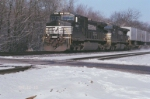 NS 9667 at the railroad crossing