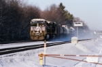 NS 9843 kick up snow dust