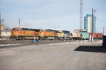 BNSF 4506 Point On Arriving Freight Train