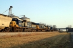 CSX 7768 leads G191 north past Commonwealth Feeds, Memphis Jct.