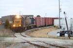 J759 working an industry near Sanderson