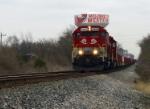CSX K562 south is the loaded R.J. Corman Ingot train passes the Morgantown siding on the Main