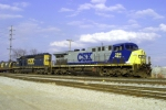 CSX 284 and CSX 8068 lead Q275 southbound