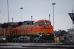 BNSF 6326 waits to roll west with an empty as she sits on F-4 getting fuel on the west end of BNSF Lincoln yard.