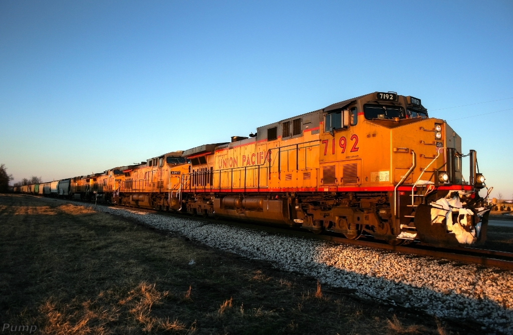 Southbound MNA Loaded Grain Train