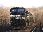 NS 9653 sits waiting a crew at the end of the passing siding in Schaghticoke, NY