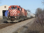 CP 6050 leads a Red Barn SD40-2F on train 250