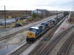 CSX 9023, 8410, 6121, 6421, 6421, 2233, and 7598 Provide Quite a Sight Headed into Acca