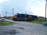 CSX 744 - DPU of loaded NB Coal