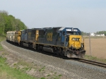 CSX 8547 leads Q334-30 around the sweeping curve