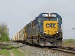 With the rail flexing under its' weight, 8547 leads Q334-30 east