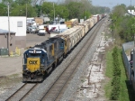 Rolling east on Track 2, Q334-30 rolls away from Ensel Yard
