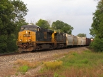 CSX 5431 & 462 slowly roll west on restricting signals with Q335-28