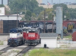 Several of Lake State's new EMD's await more work as 9 of the old Alco's await their fate