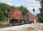 CN 5739 & 5681 hustle west with M393