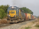 CSX 8400 heads east at the point point of Q334-21