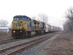 CSX 7664 & 299 hustle north with just 41 cars in tow