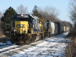 CSX 8639 leads Q335-02 towards Trowbridge