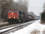 CN 2660 leads M396 past the Amtrak station