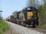 Slowly pulling out of Waverly Siding, D700-16 heads for Wymoing
