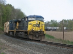 Eastbound in the Lako Block, CSX 515 leads Q334-22 around the curve