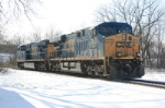 CSX 5233, 5442 is the second grain train in here today.