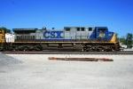 Grain train with CSX 454 City of Magnolia