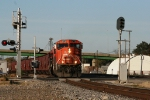 CN 5778 comes off BNSF to the CN to go South.