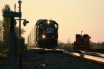 NS 2548 heads East as the sun starts fade.