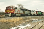 Westbound coal empties near yard