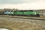 Loaded coal train departs