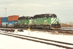 Eastbound stack train