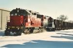 Coal train continues west