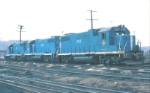 B&M GP38-2's 202, 206 & 205 on the ready track