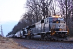 NS SD60I #6747 lead on NS 13G northbound train